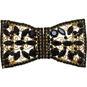 DeLizza and Elster / Juliana Huge Black Rhinestone Sash/Belt Buckle - LAST CHANCE - PRICE WILL NEVER BE LOWER