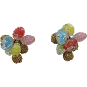 Colorful Napier Glass Beaded Earrings
