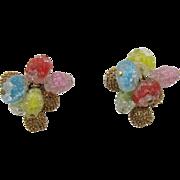 Colorful Napier Glass Beaded Earrings