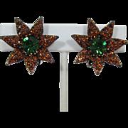 Vibrant Weiss Madeira Topaz and Tourmaline Green Earrings