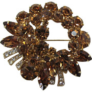 Beautiful Colorado Topaz Navette Rhinestone Brooch
