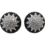 Bellini by FormArt Black and Silver Rhinestone Earrings