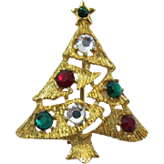 Sparkling Eisenberg Ice Christmas Tree Pin