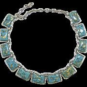 Coro Turquoise Confetti Link Necklace