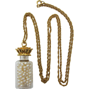 "Avon ""Bottled Treasures"" Necklace with Pearls - Book Piece"