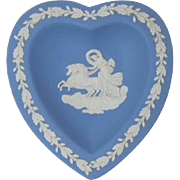 Blue Wedgwood Jasperware Heart-Shaped Party Dish