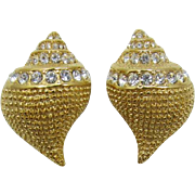 Kenneth J. Lane KJL Gold-tone Conch Shell Earrings