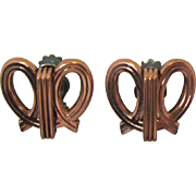 Modernistic Renoir Copper Looped Earrings