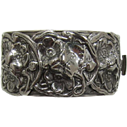 Silver-tone Victorian Revival Bracelet with Flowers