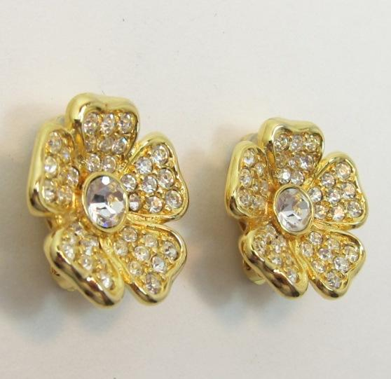 Joan Rivers Convertible Brooch & Extra Matching Earrings - Book Piece - see all images