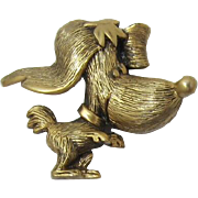 Tortolani Cute Lady Dog Figural Pin