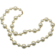 Napier Large Imitation Pearl Necklace