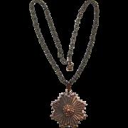 Genuine Copper Medallion Pendant Necklace