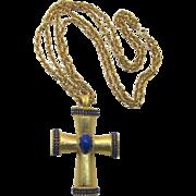 Vogue Renaissance Style Huge Gold-tone Cross