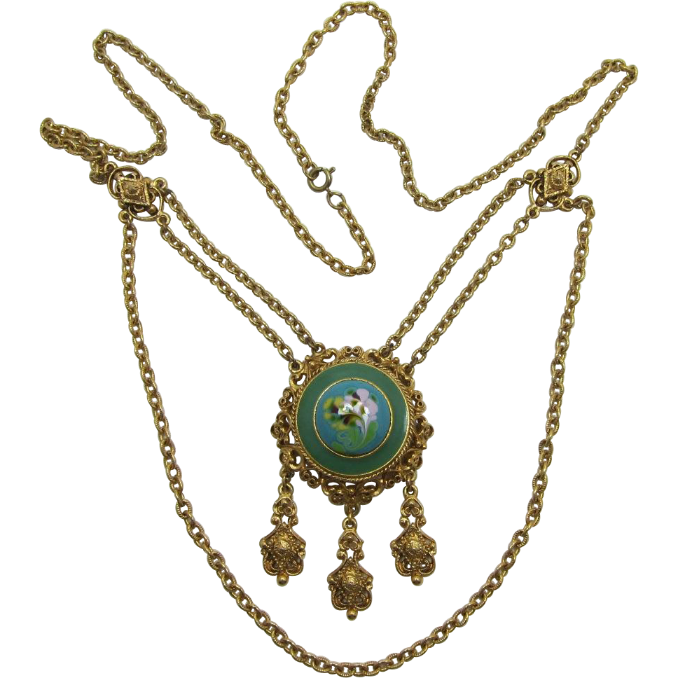 Beautiful Florenza Victorian Revival Festoon Necklace