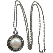 """Avon """"Heirloom Riches"""" Double Sided Pendant Necklace - Book Piece"""