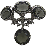 "Large Etruscan Style ""Black Diamond"" Brooch/Pendant"