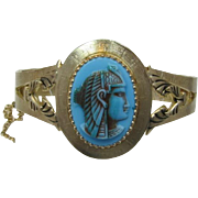 Whiting & Davis King Tut Hinged Bracelet
