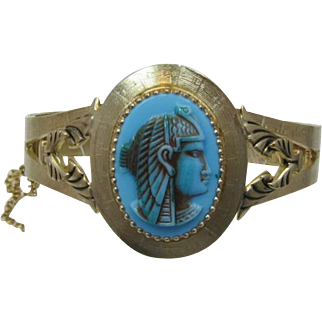 Whiting & Davis King Tut Hinged Bracelet