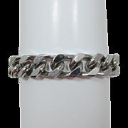 Goldette Polished Silver-tone Curb Link Bracelet