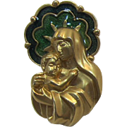 Avon 1992 Madonna and Child Enameled Tack Pin