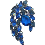 DeLizza and Elster Juliana Large and Elegant All Blue Spray Brooch