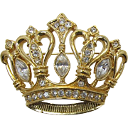 Beautiful KJL Kenneth Lane for Avon Crown Brooch