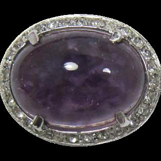 REJA Classic Swirled Purple Cabochon Brooch