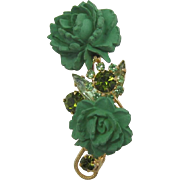 DeLizza and Elster Juliana Green Flower Pin