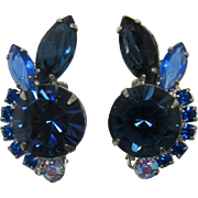 DeLizza and Elster - Juliana Blue on Blue Rhinestone Earrings