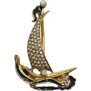 1928 Jewelry Co. Phoenician Boat Brooch