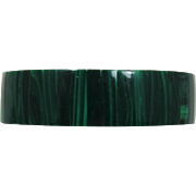 Expandable Bracelet with Malachite Insets