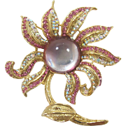 Beautiful Pink and Lavender Flower Brooch -  Frank DeLizza's Archives