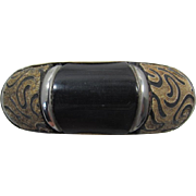 Bold Bijoux Terner Carved Horn Bangle Bracelet -  Frank DeLizza's Archives