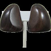 Gerda Lynggaard Monies Deep Brown Wood Earrings