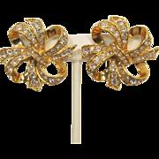 KJL Kenneth Lane for Avon Large Gold-tone Bow Earrings