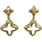 Givenchy Striking Gold-tone Earrings with a Hand-Hammered Look