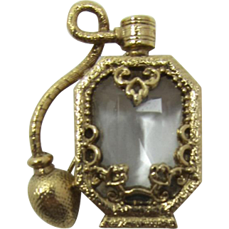 1928 Jewelry Co. Old-Fashioned Perfume Atomizer Brooch