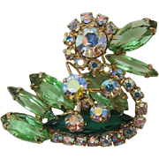 DeLizza & Elster aka Juliana Bright Green Quacking Duck Brooch - Book Piece