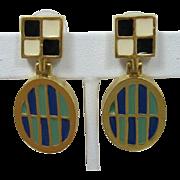 Karl Lagerfeld Geometric Dangling Earrings - Pierced/Post