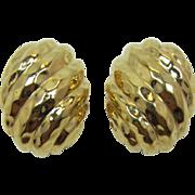 Ciner Bright Gold-tone Earrings