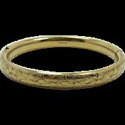 Old Coro Gold-Filled Hinged Bangle Bracelet
