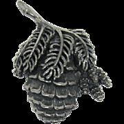 Botticelli Silver-tone Pine Cone Brooch