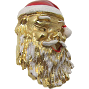 Gerry's Laughing Santa Face Pin