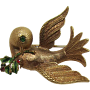 MYLU Christmas Dove of Peace Brooch
