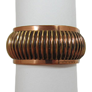 1950's Modernistic Copper Hinged Bracelet