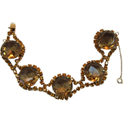 Colorado Topaz and Topaz Rhinestone Bracelet