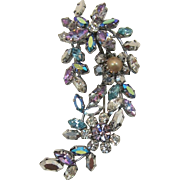 Austria Flower Brooch with Exquisite Swarovski Rhinestones