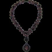 Catherine Stein Renaissance Style Beaded Pendant Necklace