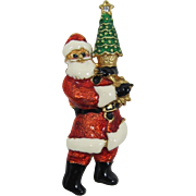 Christopher Radko Santa Holding a Christmas Tree Pin